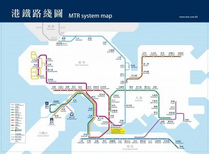 2014香港地铁线路图图片
